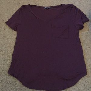 Purple v - neck top